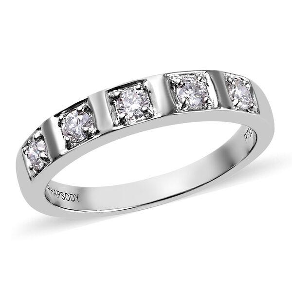 RHAPSODY 950 Platinum Natural IGI Certified Diamond (VS/E-F) Band Ring 0.33 Ct, Platinum wt. 6.21 Gm