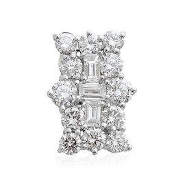 ILIANA 18K White Gold Diamond (Rnd and Bgt) Boat Cluster Pendant 1.000 Ct.