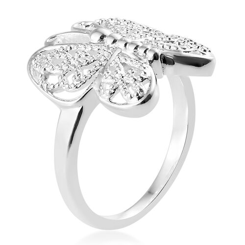 Sterling Silver Butterfly Ring, Silver wt 4.25 Gms.