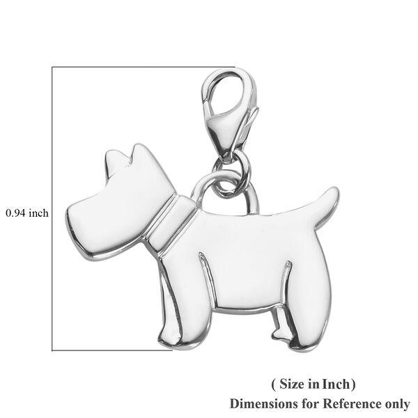 Platinum Overlay Sterling Silver Scottish Terrier Dog Charm