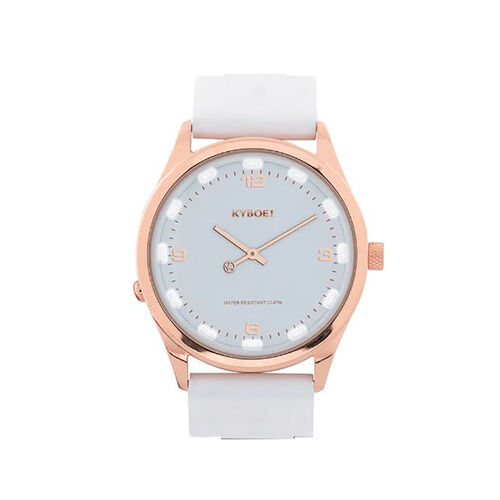 KYBOE Evolve Collection White Rose Slimline 41MM LED Watch- 100M Water Resistance