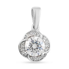 Swarovski Zirconia Fancy Pendant in Platinum Overlay Sterling Silver 1.04 ct  1.515  Ct.