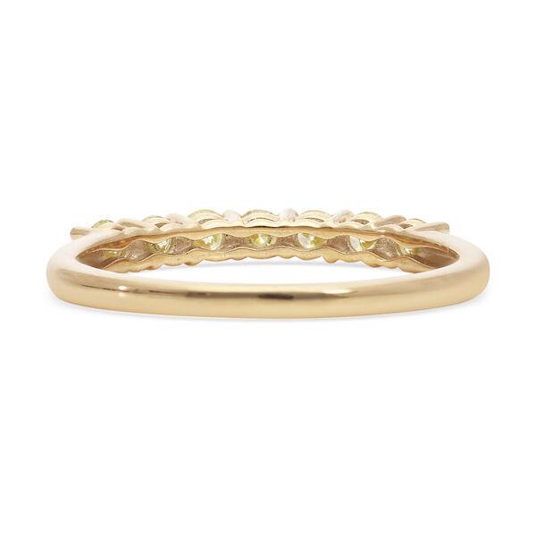 9K Yellow Gold Natural Yellow Diamond Half Eternity Ring 0.50 Ct.