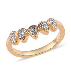 Diamond (Rnd) Crown Ring in 14K Gold Overlay Sterling Silver