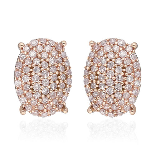 Exclusive Edition- 9K Rose Gold Natural Pink Diamond Earrings (with Push Back) 0.50 Ct.