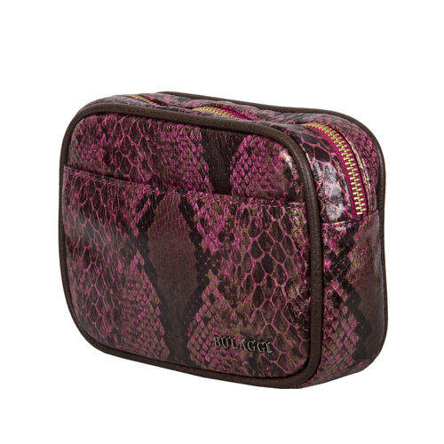 Bulaggi Collection Protea Snake Skin Print Crossbody Bag - Fuchsia