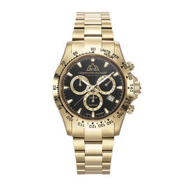 Christophe Duchamp: GRAND MONT Swiss Movement 10 ATM Water Resistant Watch in Gold Tone