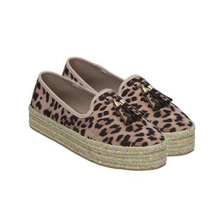 Manchester Closeout Deal Wedge Canvas Women's Shoe Leopard