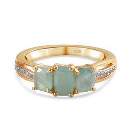 Zircon, Grandidierite Ring in 14K Gold Overlay Sterling Silver 1.35 ct  1.350  Ct.