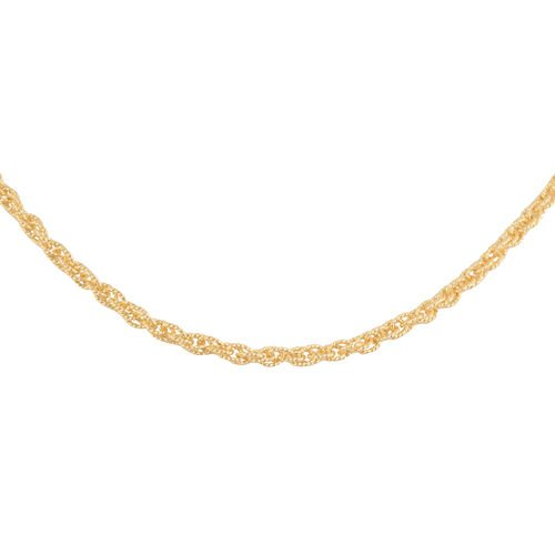 Made in Italy - 14K Gold Overlay Sterling Silver Necklace (Size 18), Silver wt 9.09 Gms
