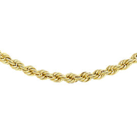 One Time Close Out Deal- Italian Made 9K Yellow Gold Rope Necklace (Size 18) Gold Wt. 4 Gms