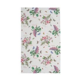 Pimpernel 100% Cotton Floral Print Botanic Garden  Tea Towel in White (Size 75x46cm)
