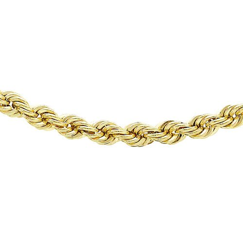 9K Yellow Gold Rope Chain (Size 18), Gold wt 2.60 Gms