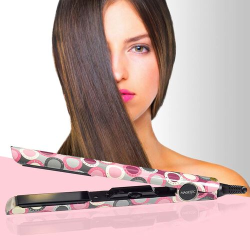 Magestic: Nano Hair Straightener - Silver Art Collection - Magestic