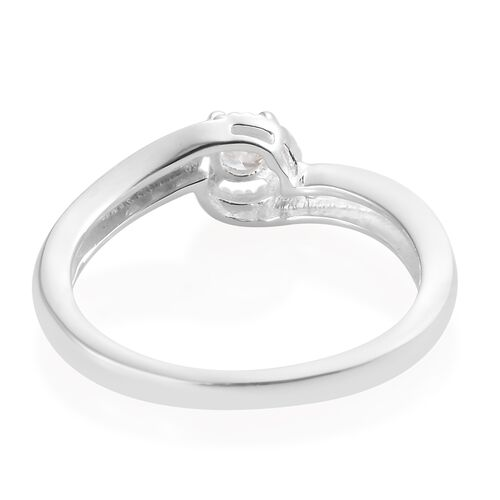 J Francis - Sterling Silver (Rnd) Ring Made with SWAROVSKI ZIRCONIA