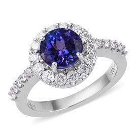 RHAPSODY 950 Platinum AAAA Tanzanite and Diamond Ring 2.50 Ct.