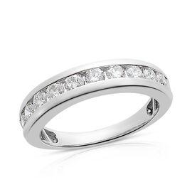 Super Auction- RHAPSODY 950 Platinum IGI Certified Diamond (Rnd) (V-S/ E-F) Half Eternity Band Ring  1.000 Ct, Platinum wt 5.51 Gms.