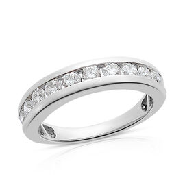 RHAPSODY 1 Carat Diamond Half Eternity Band Ring in 950 Platinum 5.51 Grams IGI Certified VS EF