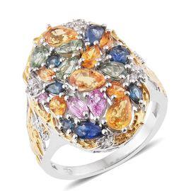 Yellow Sapphire (Pear), Kanchanaburi Blue Sapphire, Orange Sapphire, Pink Sapphire, Green Sapphire a