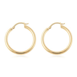 9K Yellow Gold Hoop Earrings, Gold wt 1.00 Gms