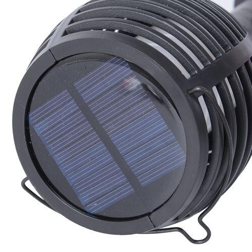 Home Decor - Solar Flickering Flame Stick Light (Size 10x10.65 Cm) - Black