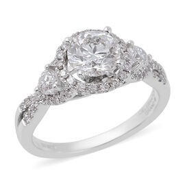New CloseOut 14K White Gold Diamond Ring, Centre Dia 1.00 Ct. Total Weight 1.50 Ct. (I1-I2/GH)