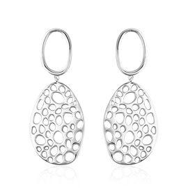 RACHEL GALLEY Drop Earrings in Rhodium Plated Sterling Silver 16.38 Grams