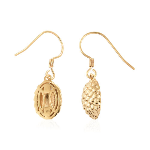14K Gold Overlay Sterling Silver Earrings (with Hook)