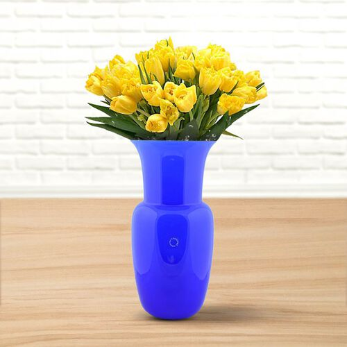 Made In Italy - Authentic Murano Glass Vase - Blue