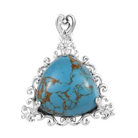 Blue Mojave Turquoise (Tri) Pendant in Sterling Silver 12.750 Ct.