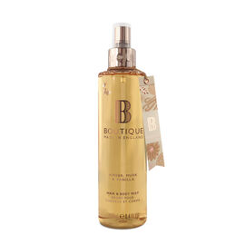 Boutique: Amber, Musk & Vanilla Hair & Body Mist - 250ml