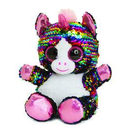 Keel Toys - Glitter Motsu - Silver and Multicolour Sequins Unicorn