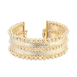 Italian Made 9K Yellow Gold Bangle (Size 7 with 1 Inch Extender), Gold wt. 20.55 Gms.