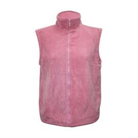Solid Dusky Pink Ladies Gilet Fleece Jacket