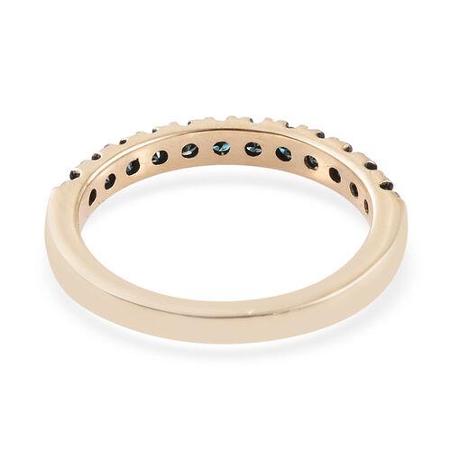 9K Yellow Gold Diamond(Rnd) Half Eternity Ring 0.400 Ct.