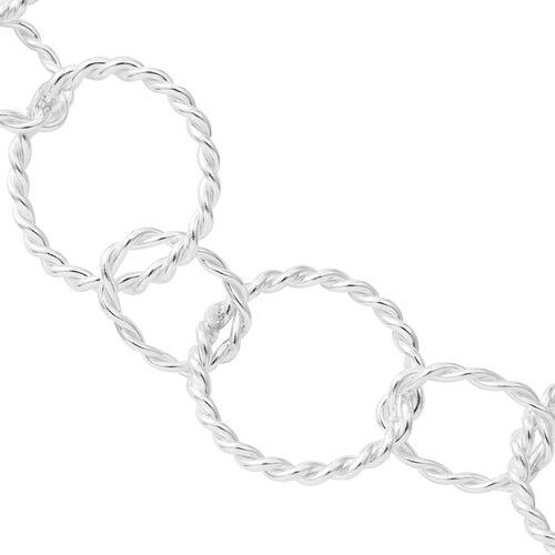 Designer Inspired - High Polished Sterling Silver Oval Link Necklace (Size 30), Silver wt 38.00 Gms.