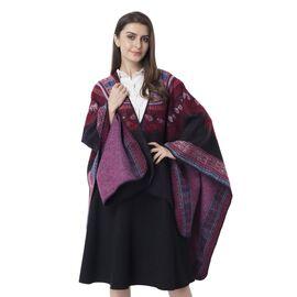 Designer Inspired- Black Colour National Style Pattern Kimono (Size 132x72 Cm)