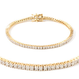 New York Close Out 3 Carat Diamond Tennis Bracelet in 14K Gold 9 Grams I2 GH Size 7.5 Inch