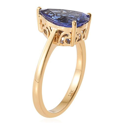ILIANA 3.50 Ct AAA Tanzanite Solitaire Ring in 18K Gold