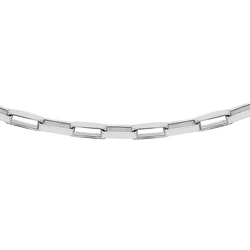Sterling Silver Square Paper Chain (Size 24), Silver wt 2.30 Gms