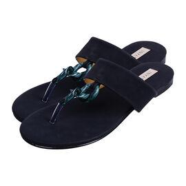 Inyati - LEANDRA Thong Style Sandal in Black