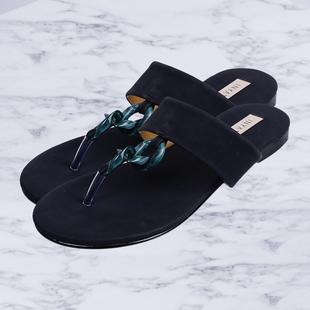 Inyati - LEANDRA Thong Style Sandal in Black (Size 4)