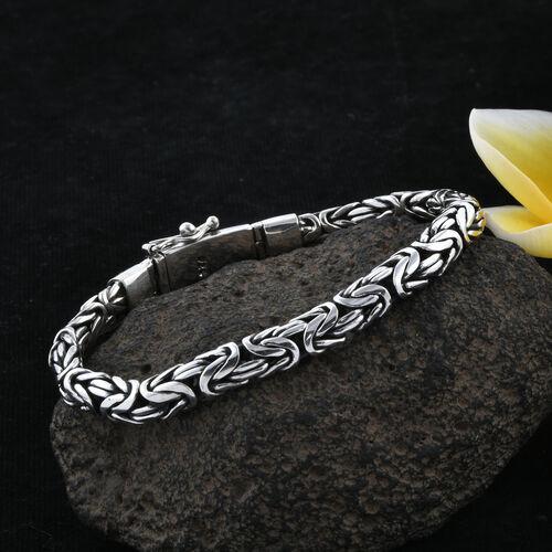 Royal Bali Collection Sterling Silver Borobudur Bracelet (Size 8), Silver wt 40.60 Gms.