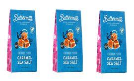 Buttermilk 3 x 150g Milk Choc Coated Caramel Sea Salt Fudge sharing box