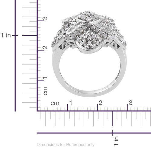 Diamond (Rnd) Ring in Platinum Overlay Sterling Silver 1.000 Ct.
