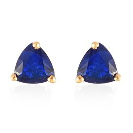 Tanzanian Blue Spinel Earrings (with Push Back) in 14K Gold Overlay Sterling Silver 1.05 Ct.