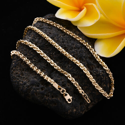 Royal Bali Collection - 9K Yellow Gold Spiga Necklace (Size 20), Gold wt. 4.78 Gms