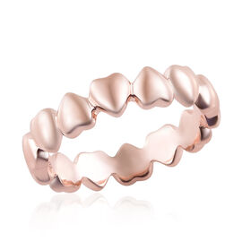 WEBEX- Rose Gold Overlay Sterling Silver Heart Shape Ring