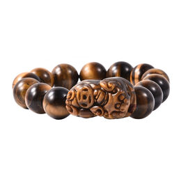 Yellow Tiger Eye (Rnd) Stretchable Beads Bracelet (Size 6.5) 319.40 Ct.