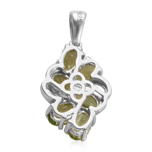 Hebei Peridot Pendant in Platinum Overlay Sterling Silver 3.00 Ct.